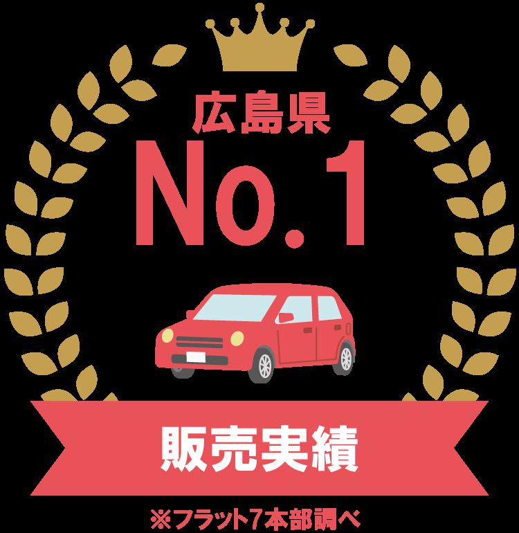 販売実績広島県No.1